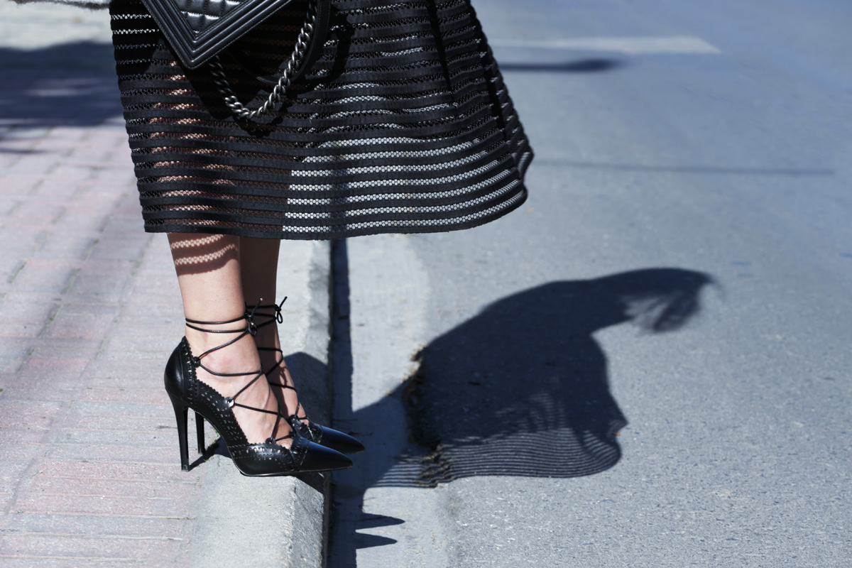 zini full skirt and zara pumps