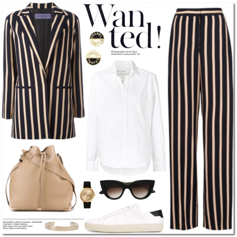 Emanuel Ungaro striped blazer and trousers