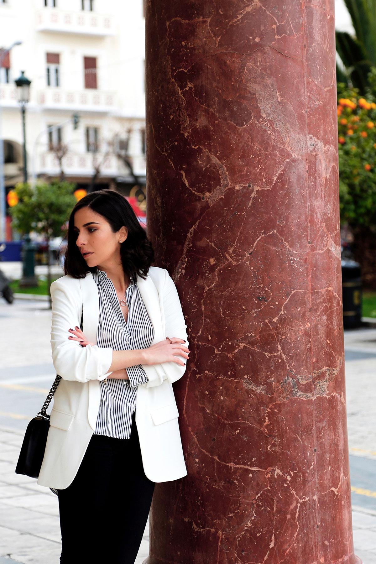 White blazer business look