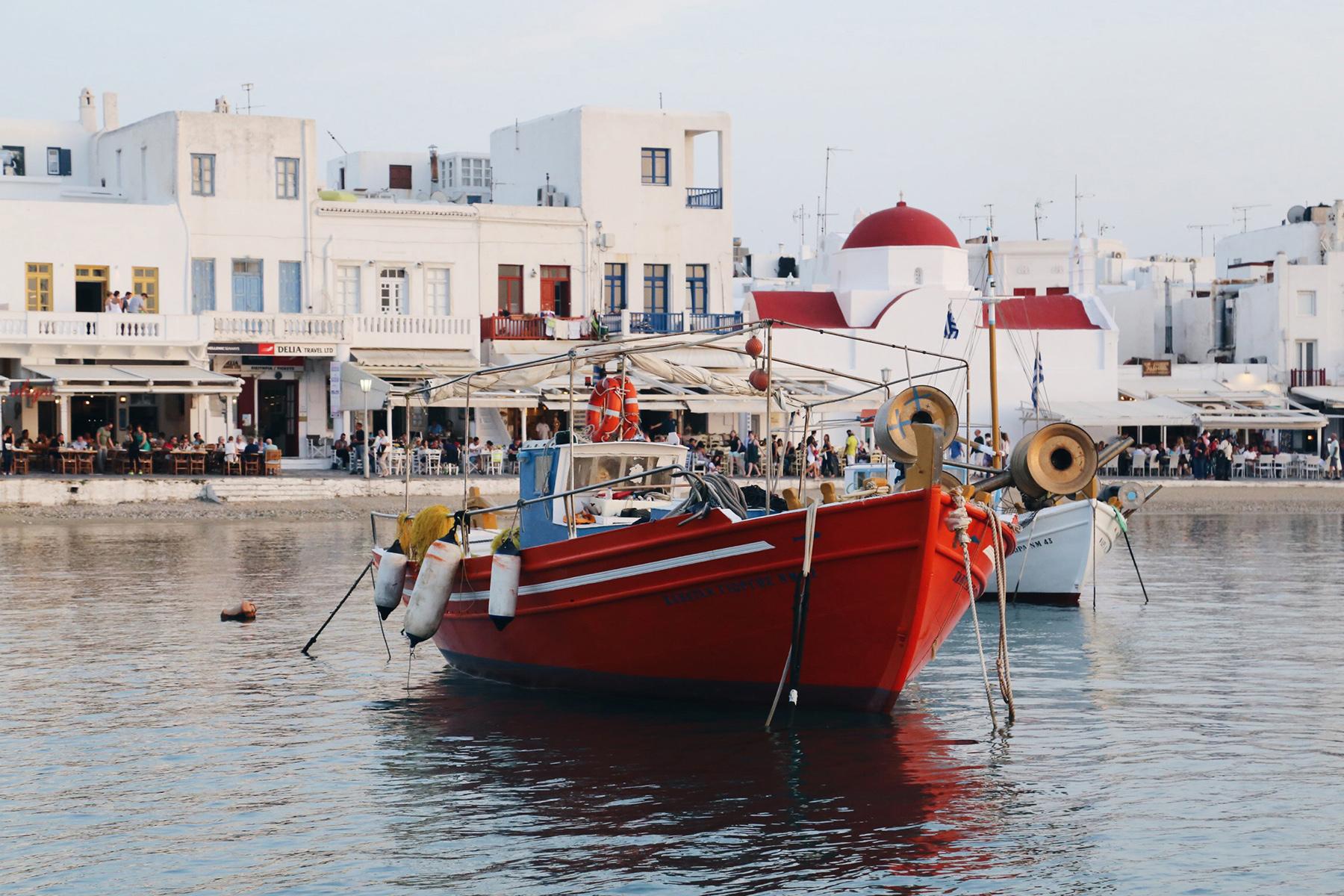 mykonos seashore