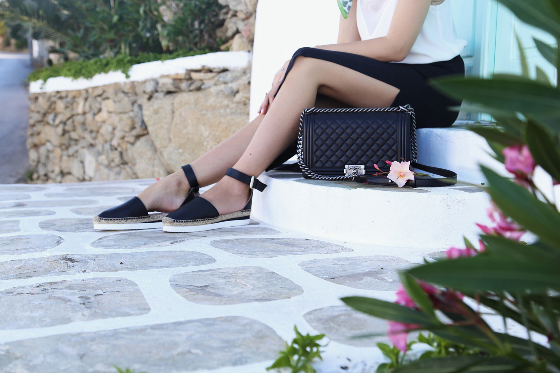 chloe glyn espadrilles Chanel boy bag