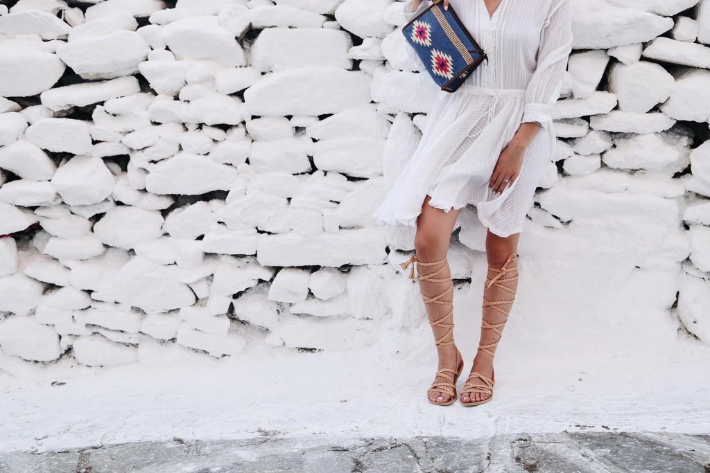 How to dress in Mykonos: LWD & Gladiators