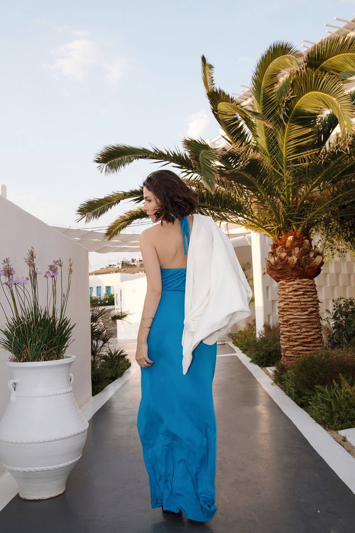 ilashan dress in mykonos