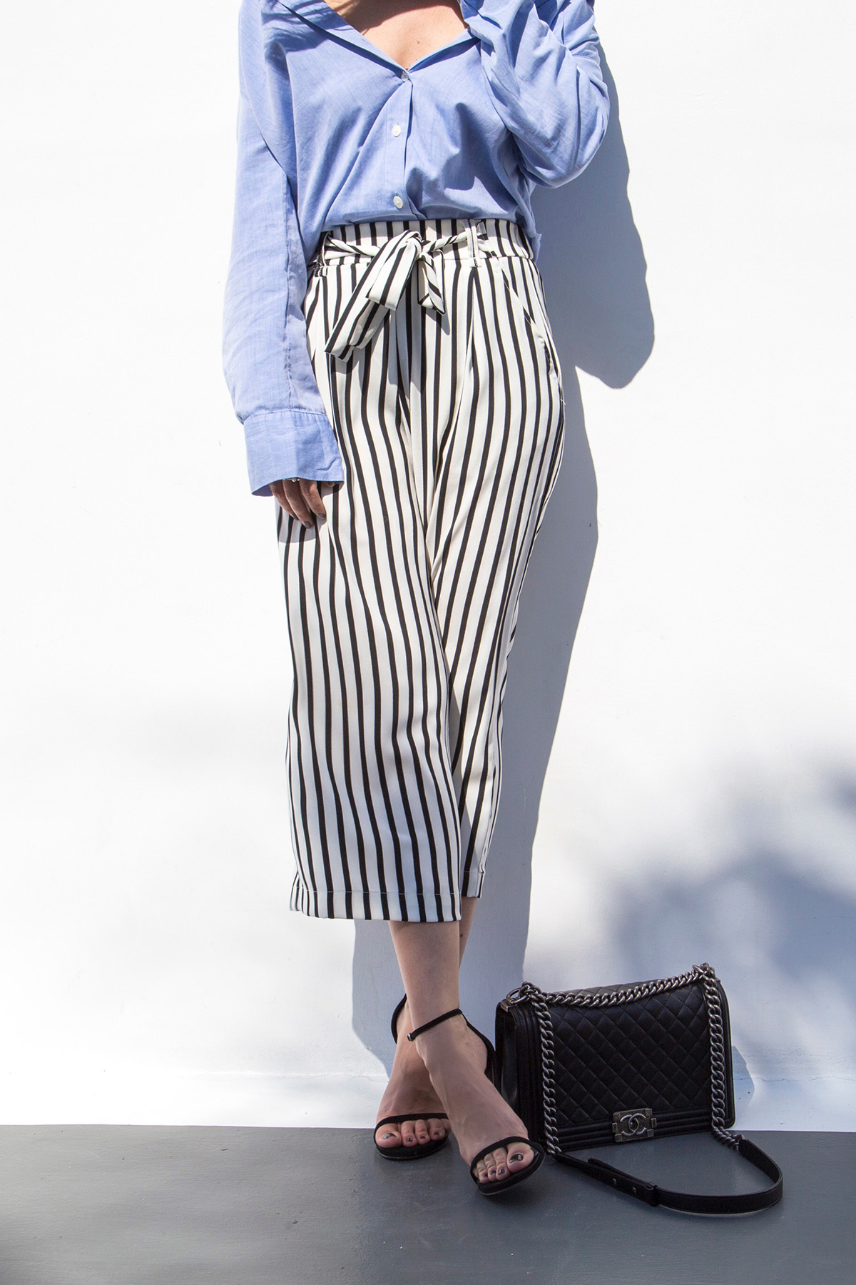 How to Style Striped Culottes
