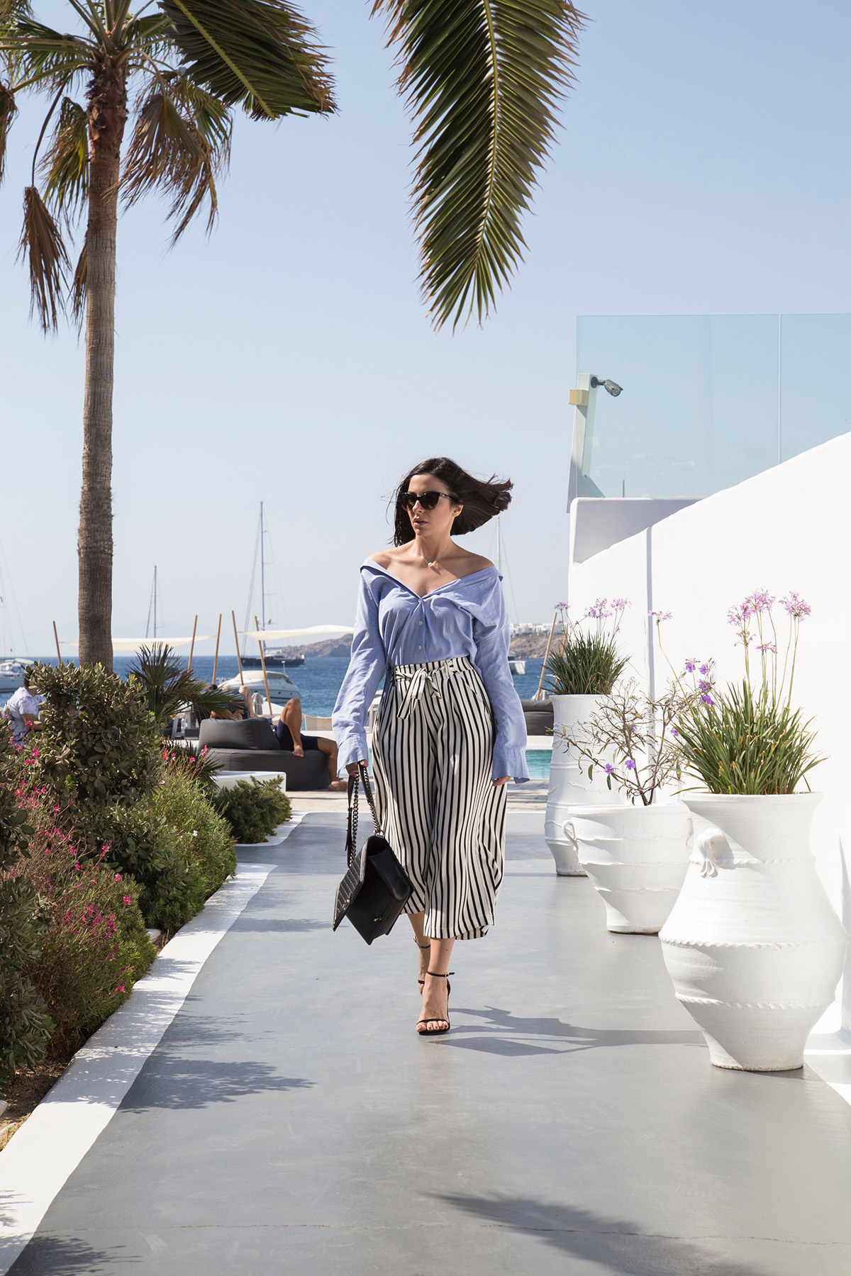 cold shoulder shirt in Mykonos