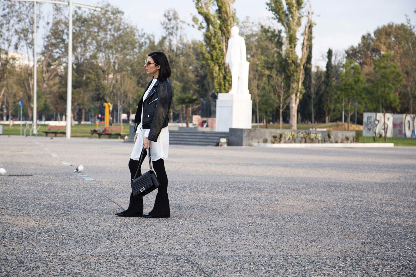 black and white edgy chic style