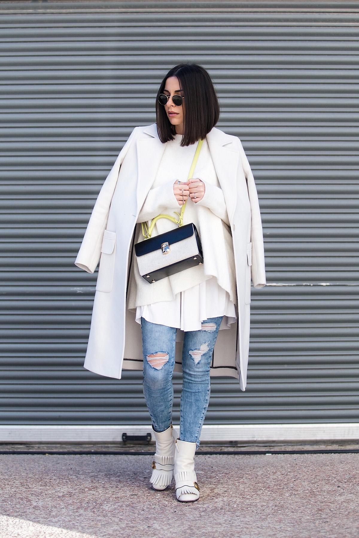 white on white on white street style