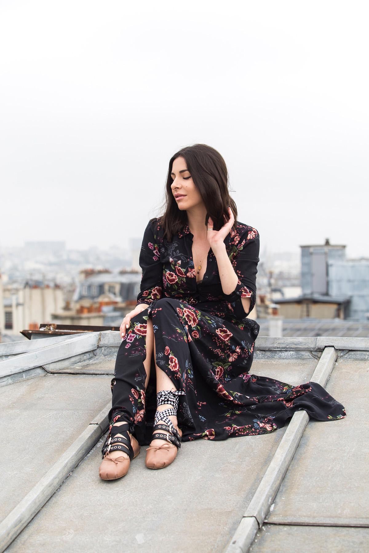 Stella Asteria Fashion & Lifestyle Blogger wearing Miu Miu ballerinas & floral dress