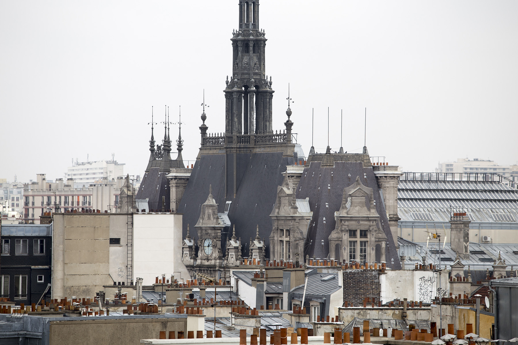 view from Parisian rooftop