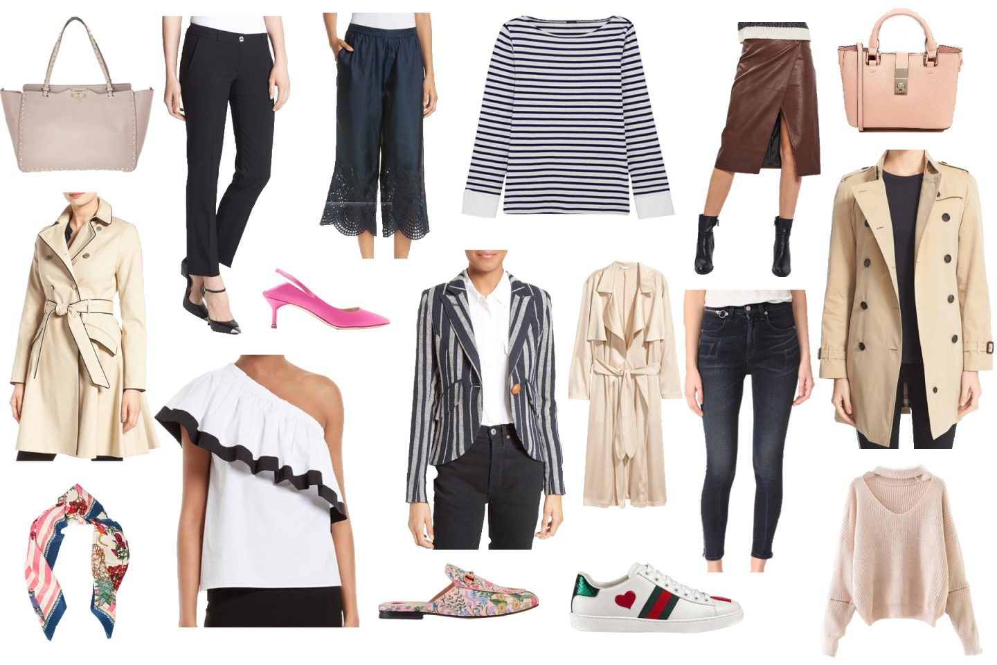 Spring Capsule Wardrobe With 20 Essential Pieces