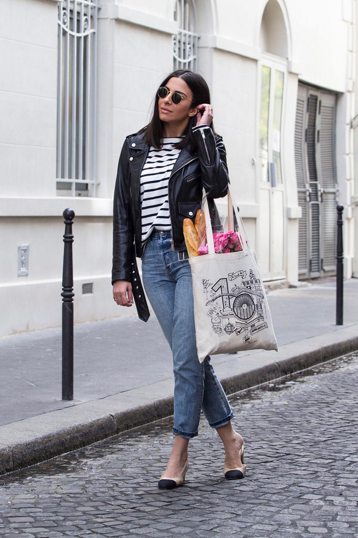 Channeling My Inner Parisian With Breton Stripe Top & Jeans