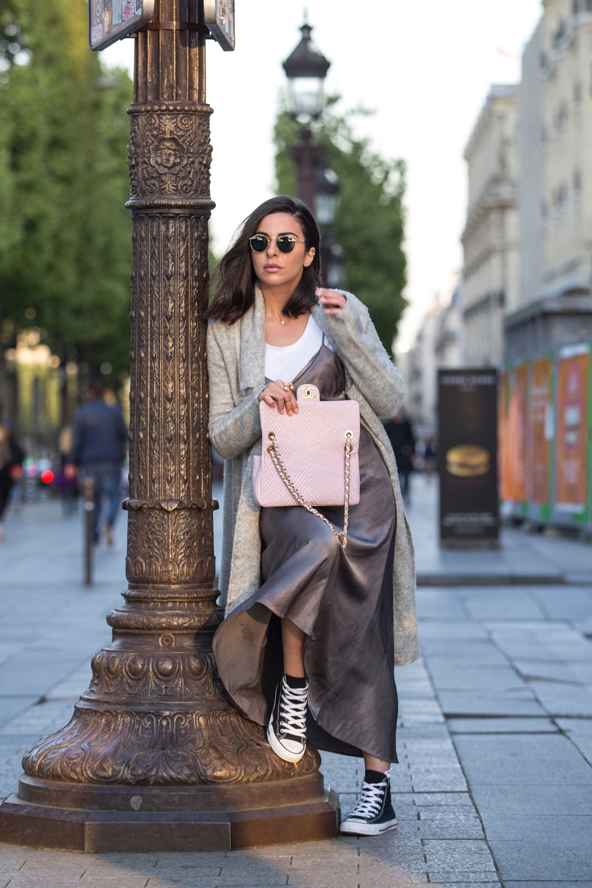 pink Chanel bag and Converse all star sneakers as seen on Stella Asteria - Fashion & Lifestyle Blogger