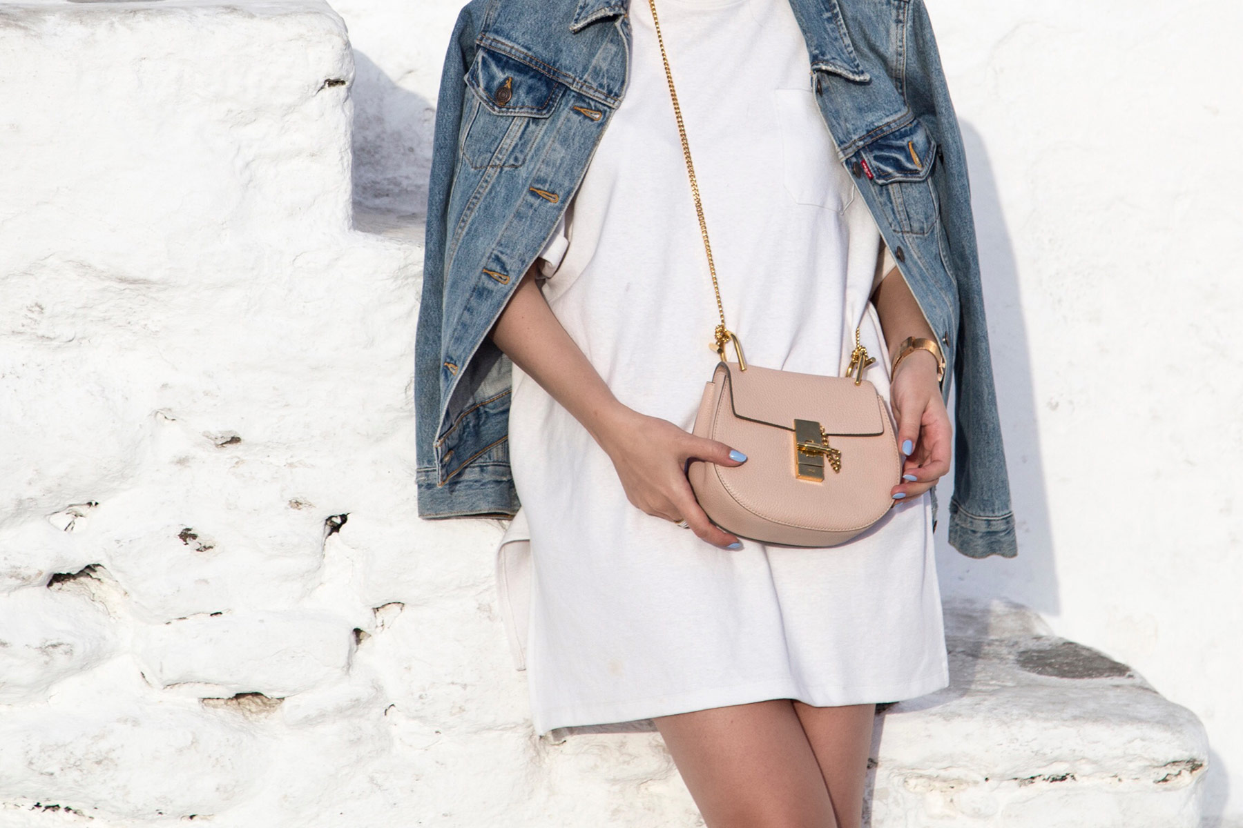 Chloe Drew Bag mini in cement pink ass seen at Stella Asteria | Fashion & Lifestyle Blogger