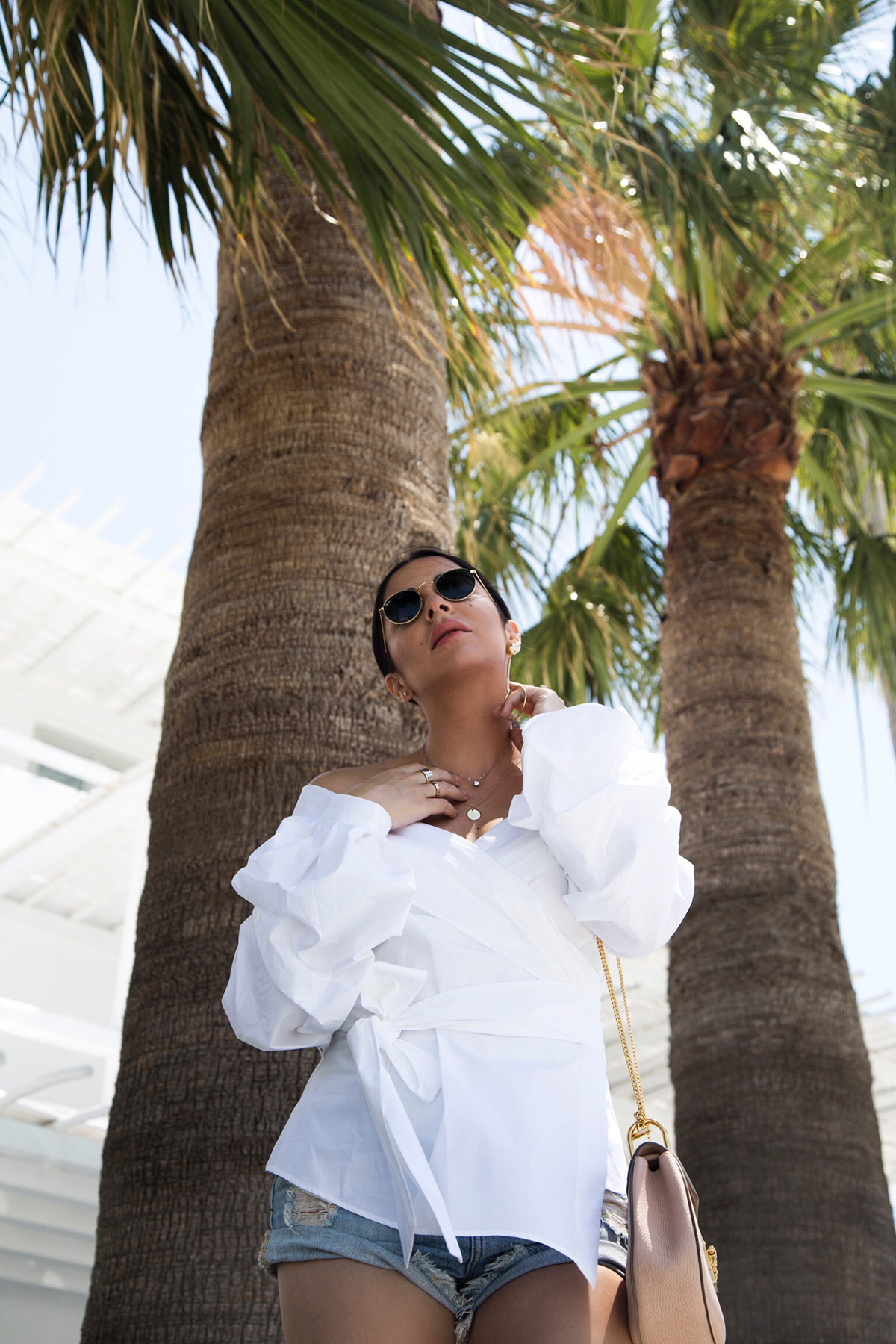 off shoulder wrap shirt as seen at Stella Asteria - Fashion & Lifestyle Blogger