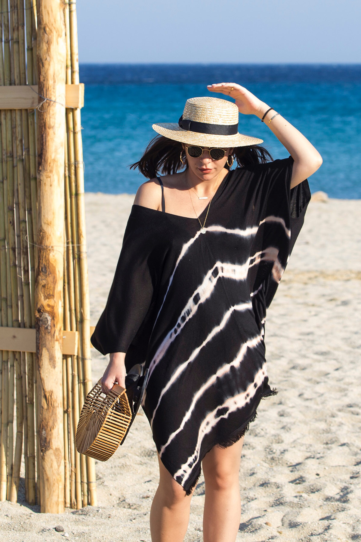 Tie Dye Beach Look in Mykonos - by Stella Asteria Fashion & Lifestyle Blogger