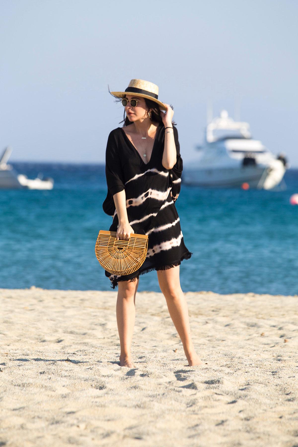 Tie Dye Beach Look in Mykonos with Cult Gaia Bag - by Stella Asteria Fashion & Lifestyle Blogger