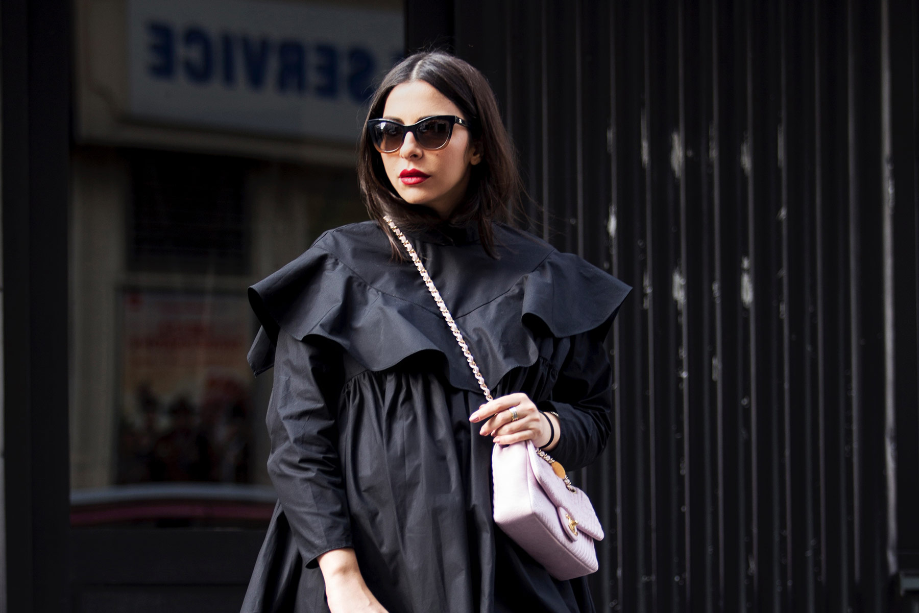 black-frill-shirt-Stella-Asteria-Paris-Fashion-Week-SS18