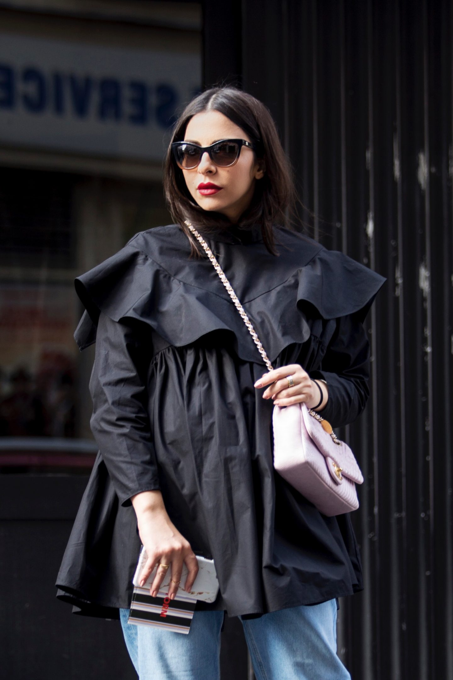 Black Frill Shirt & The Must-Have Shoes You Need This Fall