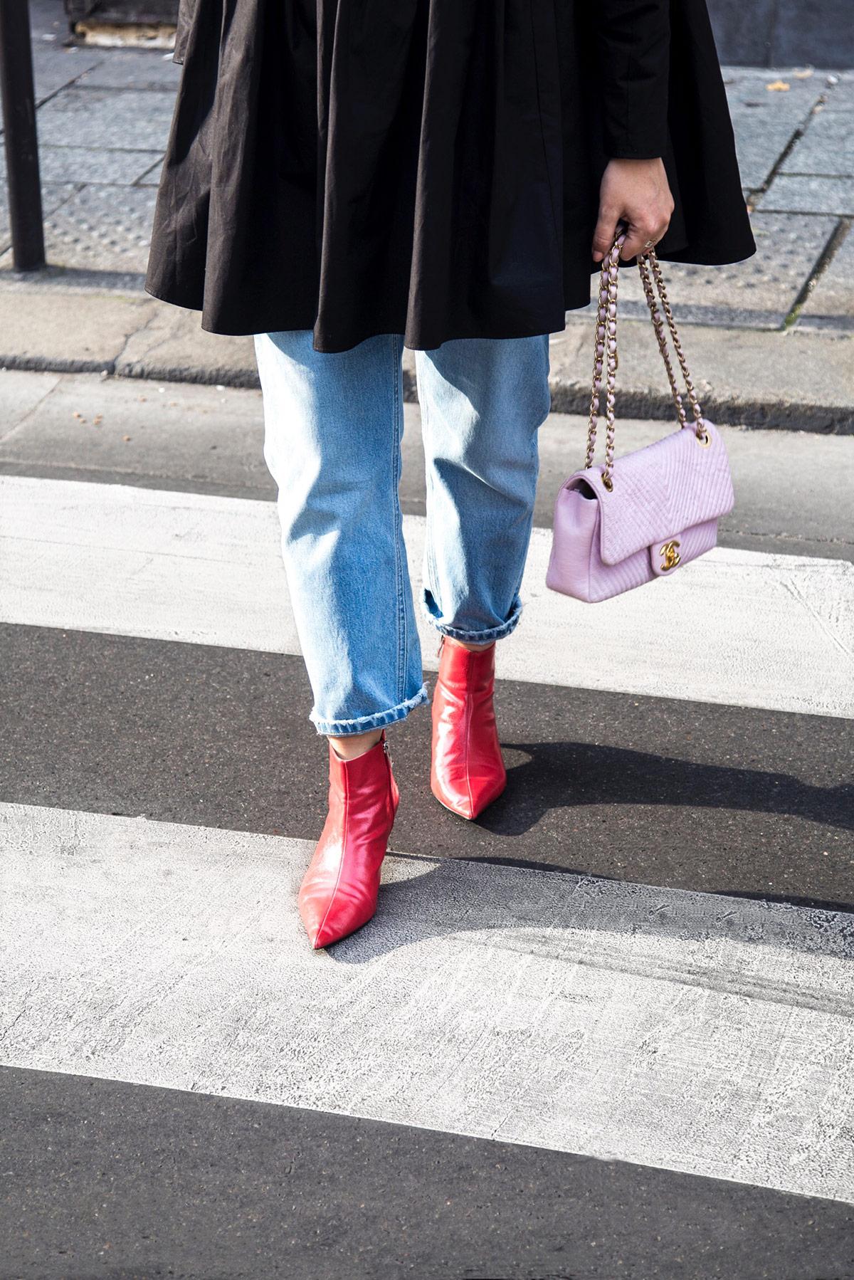 black-frill-shirt-red-boots-Stella-Asteria-Paris-Fashion-Week-SS18