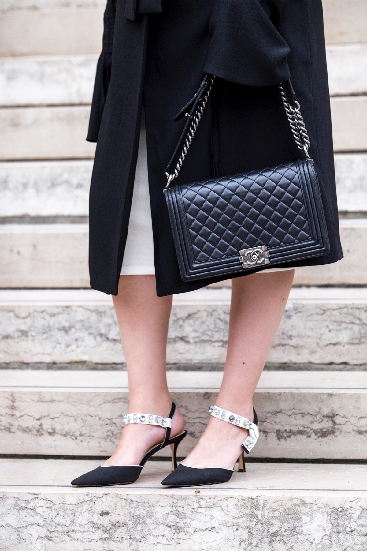 Black Medium Plus Chanel Boy Bag - Stella Asteria Fashion & Lifestyle Blogger