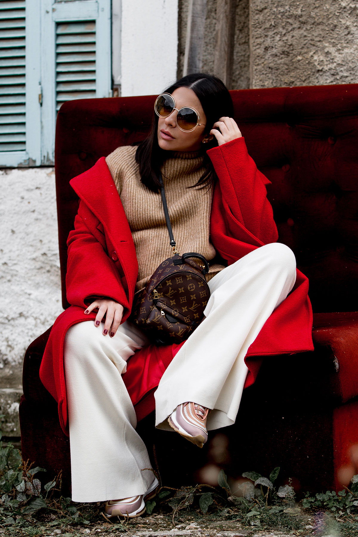 How To Wear A Red Coat Effortlessly