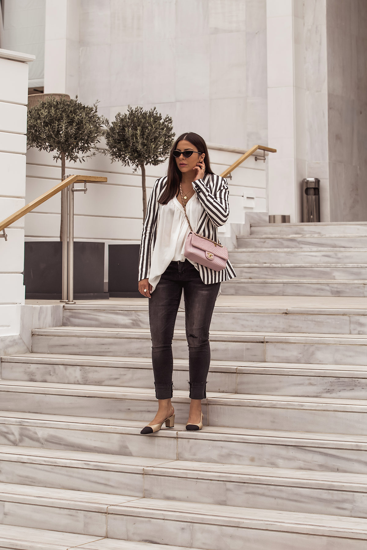 How To Wear A Striped Blazer For Spring - Stella Asteria - Fashion & Lifestyle Blogger