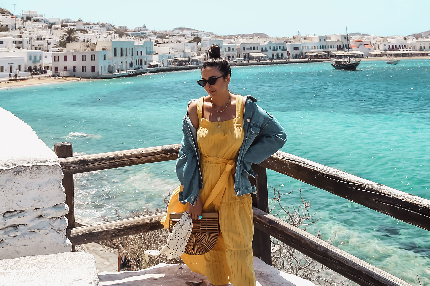 yellow dress in Mykonos - Michael Kors Dress worn by Stella Asteria - Fashion & Lifestyle Blogger