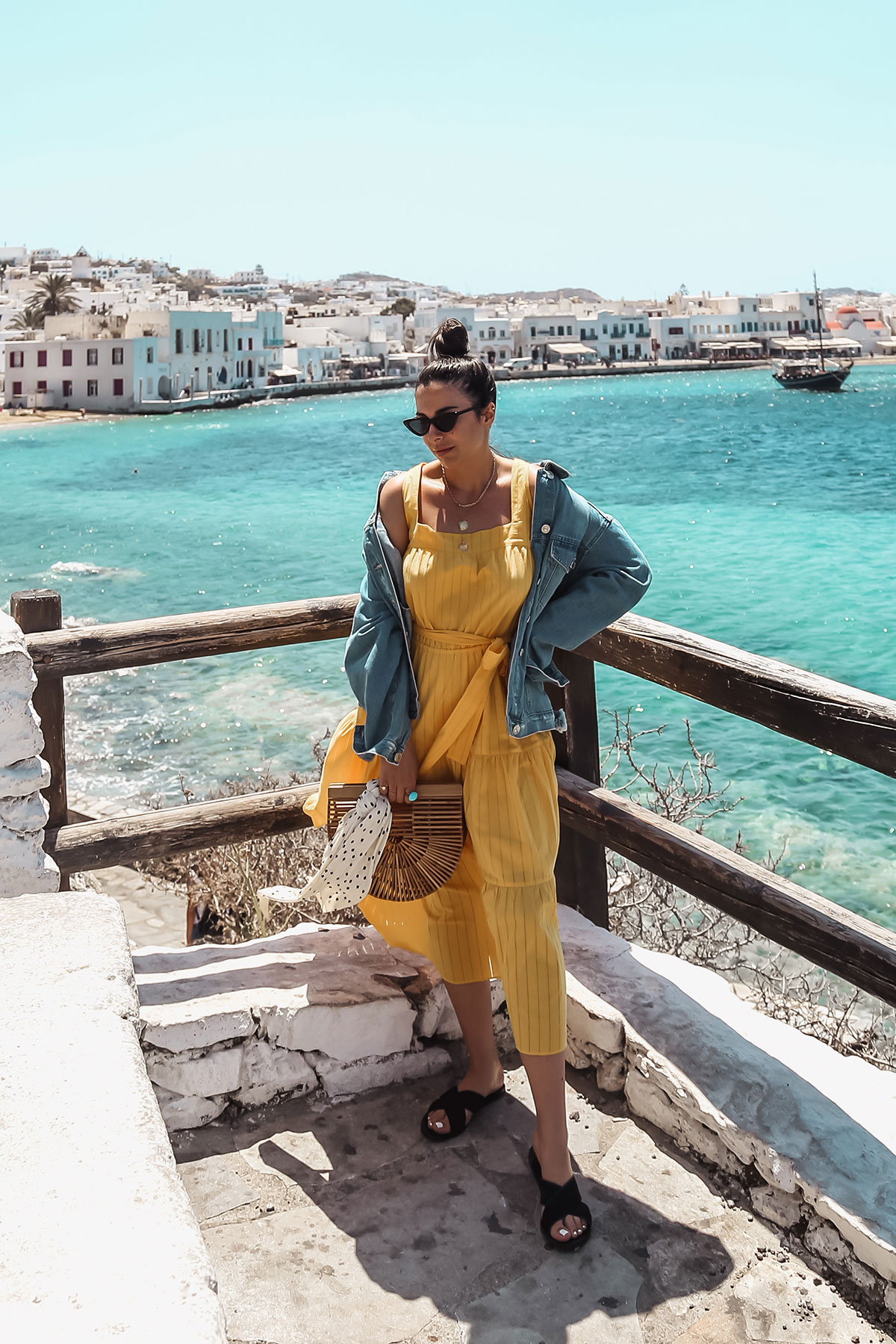 Yellow Dress In Mykonos