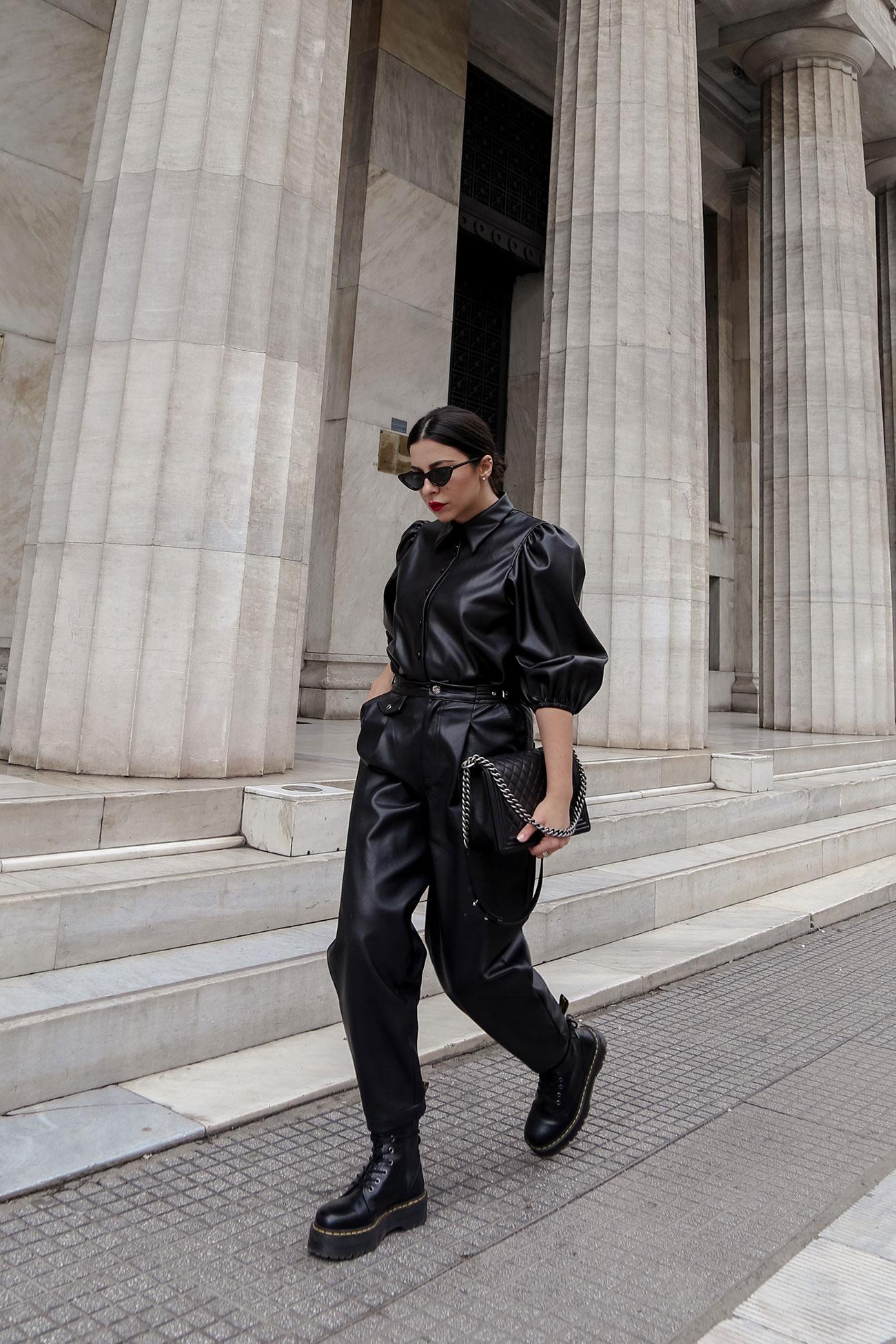 Stella Asteria - street style look in total black