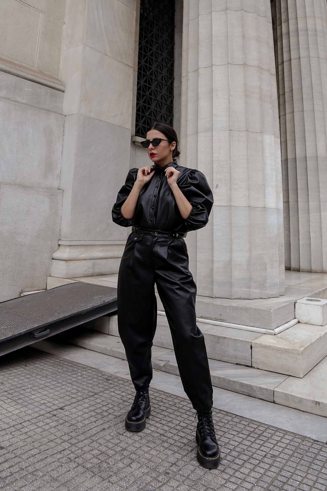 head-to-toe leather look by Stella ASteria